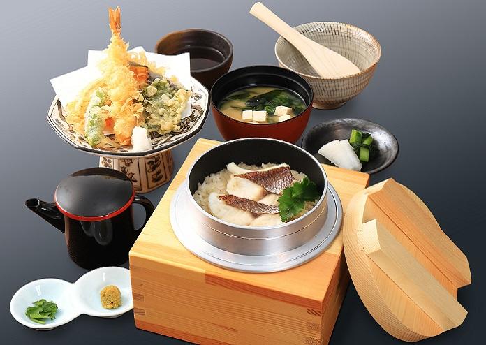 鯛釜めしと天ぷら御膳